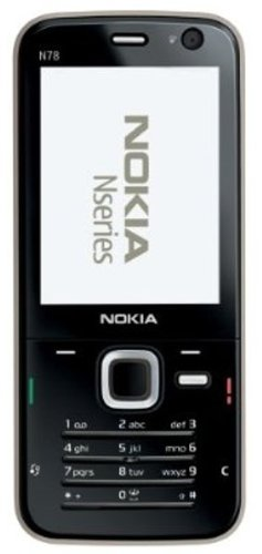 Nokia N78 Handy ohne Vertrag, Schwarz N78 Smartphone