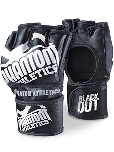 Phantom Athletics MMA Handschuhe Blackout | Hochwertige Profi Handschuhe für Kampfsport, Sparring, Sandsack, Pratzen, Boxen, Training, Freefight (M)