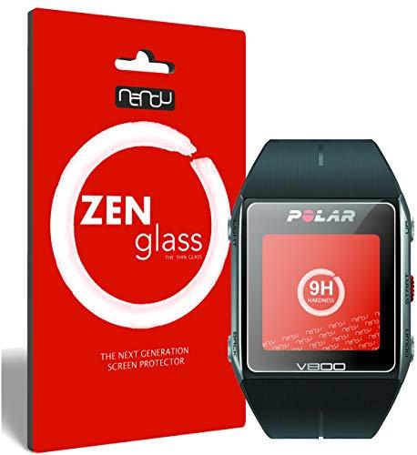 ZenGlass (2 Stück Flexible Glas-Folie kompatibel mit Polar Trainingscomputer V800 Panzerfolie I Display-Schutzfolie 9H I (Kleiner Als Das Gewölbte Display)