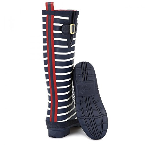 Joules Wellyprint, Bottes Femme French Navy Stripe