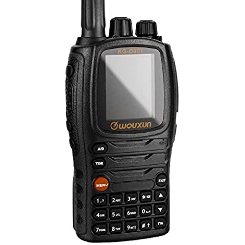 DMR Digital Ham Radio Transceiver Wouxun KG-D901 4W UHF 400-480MHz 1000 channels 2-5 miles Waterproof Dustproof IP57 Handheld Two Way Cb Walkie Talkie with 2000mAh Battery,