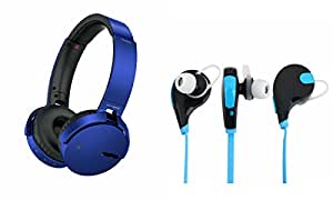 MIRZA Extra Extra Bass XB450 Headphones & Bluetooth Headset for LENOVO s820(XB 450 Headphones,With MIC,Extra Bass,Headset,Sports Headset,Wired Headset & Jogger Bluetooth Headset,Sports Headset,Gym Headset )