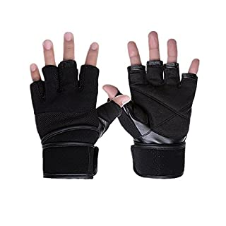 Ayouyou Herren Sport und Fitness Halb Finger Handschuhe For Cycling Fitness GYM Weightlifting Exercise,Half-finger Gloves (M)