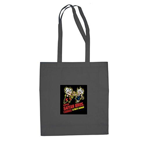 DBZ: Super Saiyan Bros Game - Stofftasche / Beutel, Farbe: grau