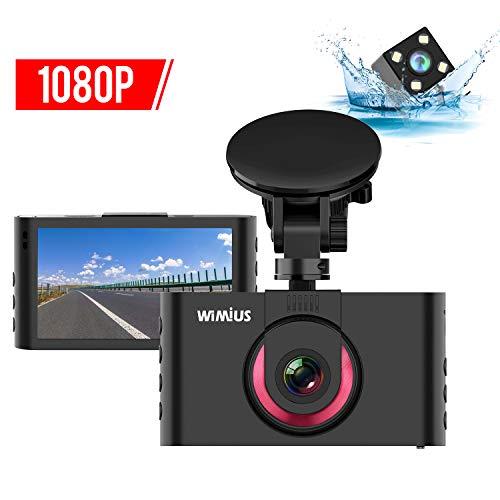 Foto WiMiUS Dash Cam Doppia, 1080P 3 Pollici LCD FHD Telecamera per Auto,...