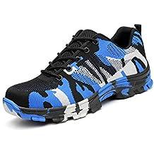 YMNL Zapatos De Seguridad, Anti-Rotura, Prevención De Pinchazos, Zapatos De Hombre