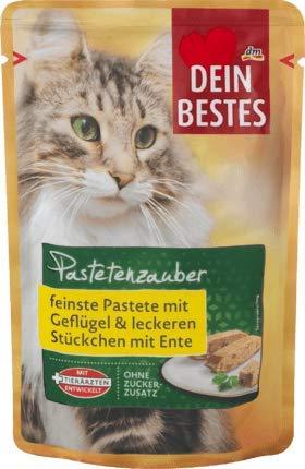 Dein Bestes Nassfutter für Katzen, Pastetenzauber, mit Geflügel & leckeren Stückchen mit Ente, 100 g