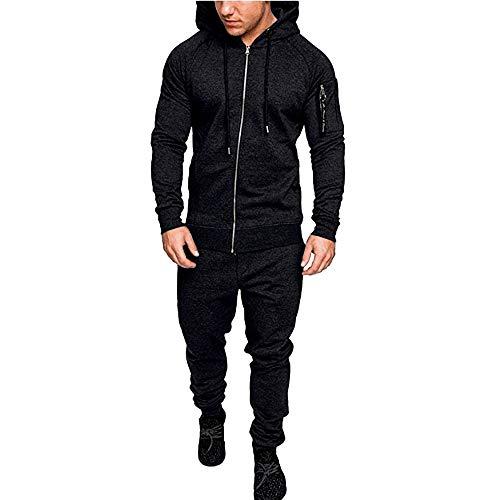 Sannysis Herren Slim Fit Hoodie Herren Jogging Anzug Trainingsanzug Sweatshirt Hose Sportanzug