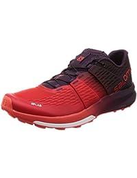 Salomon Lab Sense Ultra 2, Chaussures de Randonnée Basses Mixte Adulte, Rouge, 4 UK