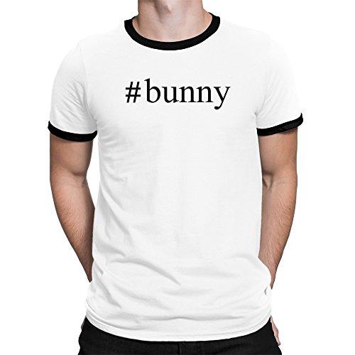 Teeburon Bunny Hashtag Ringer T-Shirt (Ringer Bunny)