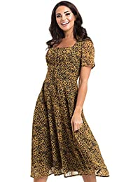 67d2de51e4 VOODOO VIXEN Womens Vivienne Leopard Print Floaty Dress