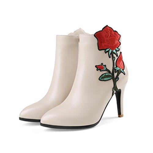 Jazs® Chaussures À Pour Femmes Bottines À Chaussures Fleurs Bottines Martin d40020