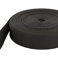 10m PP Gurtband - 40mm breit - 1,8mm stark - schwarz (UV)