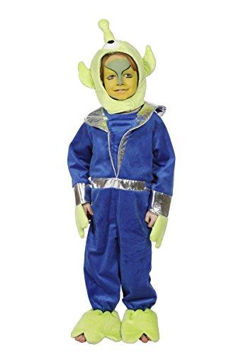 (Wilbers Kinder Kostüm grüner Alien Außerirdischer Karneval Gr.128)