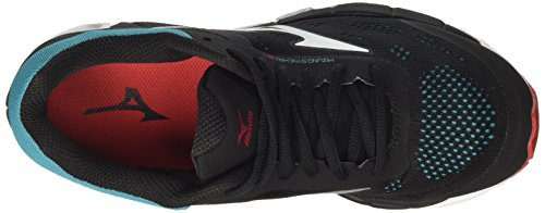 Mizuno Synchro Mx, Chaussures de Running Homme Multicolore (Black/chinesered/tileblue)