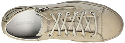 Diesel Magnete Expo-Zip Low-Sneak Y01546, Baskets Hautes Homme Beige (Silver Birch)