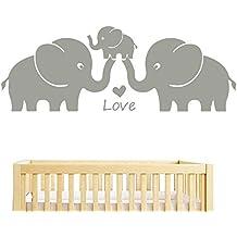 Bdecoll Egatinas de Pared Para Niños, Elefante Hipoalergénica Vinilo Pegatinas Decorativas Adhesiva Pared Dormitorio Salón