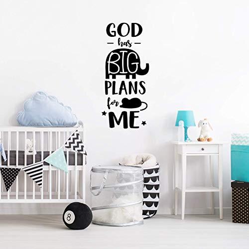 Gott hat große pläne für mich dekoration zubehör für kinderzimmer diy dekoration aufkleber wandbild 43 cm x 95 cm
