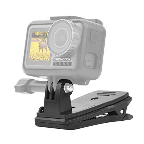 Fixation à clipser sur sac à dos Micros2u pour GoproPivot rotatif à 360° - Dégagement rapide - Pour chapeau, Sac, Sac à dos.Pince adaptée pour Hero 6,5,4,3,Session et d'autres caméras d'action.
