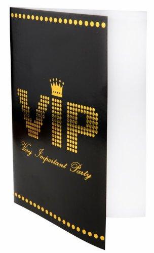 SANTEX 4235-11, Sachet de 10 Cartes d'invitation, menu ou faire-part VIP 3016600105479