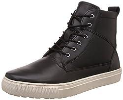 Carlton London Mens Nelda Black Leather Boots - 8 UK/India (42 EU)