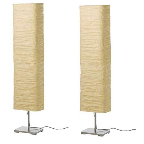 2 XIKEA Standleuchte MAGNARP, 154cm, Reispapier -