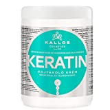 Kallos Keratin Hair Mask with Keratin and Milk Protein for Dry, Damaged and Chemically Treated Hair - 1000ml