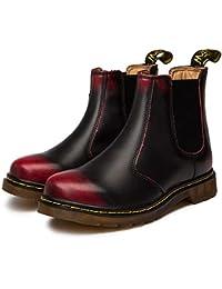 Zkyo Chelsea Boots Damen Herren Kurzschaft Winter Stiefel Warm Gefüttert  Ankle Stiefeletten Rutschfeste Worker Boots Gr 08b410325e