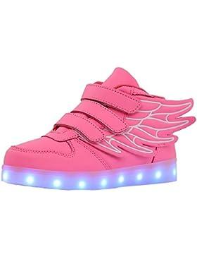 Aidonger - Zapatillas deportivas infantiles con led que cambia a 7 colores, con carga USB