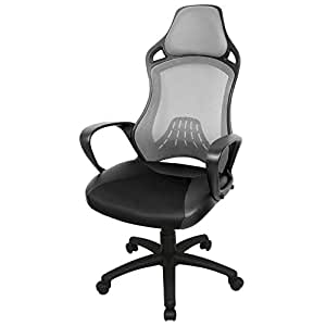 High Back Office Chair With Head Support Height Adjustable
