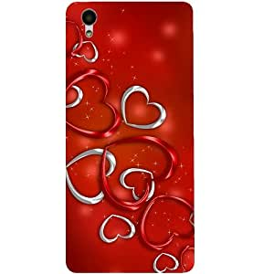 Casotec Hearts Design 3D Hard Back Case Cover for Vivo Y51L
