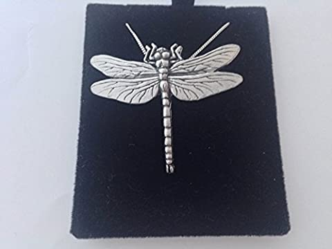 C3 Dragonfly PENDENT REAL 925 sterling silver Necklace Handmade 30 inch chain with prideindetails gift