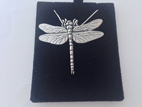 C3Libelle Anhänger echt 925Sterling Silber Halskette Handarbeit 66cm Kette mit prideindetails Geschenk-Box
