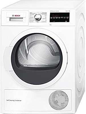 Bosch Serie 6 WTG85230EE Independiente Carga superior 8kg A++ Color blanco - Secadora (Independiente, Carga superior, Bomba de calor, A++, Color blanco, B)
