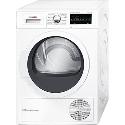 Bosch Serie 6 WTG85230EE Independiente Carga superior 8kg A++ Color blanco - Secadora (Independiente, Carga superior, Bomba de calor, A++, Color blanco, B)