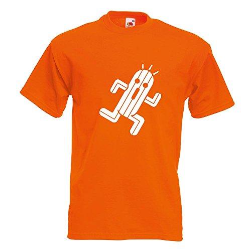 KIWISTAR - Zigtausend Stacheln T-Shirt in 15 verschiedenen Farben - Herren Funshirt bedruckt Design Sprüche Spruch Motive Oberteil Baumwolle Print Größe S M L XL XXL Orange