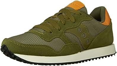 Saucony Dxn Trainer, Color: Olive, Size: 35.5 EU (5 US / 3 UK)