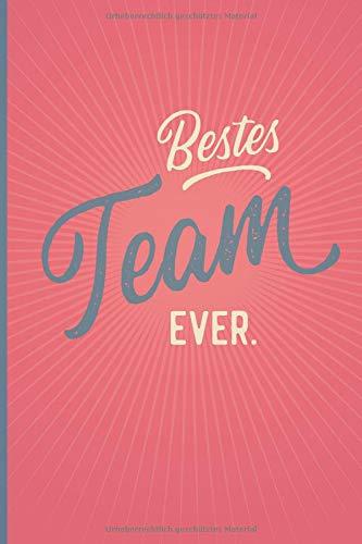 Bestes Team Ever - Notizbuch • Journal • Tagebuch: Originelles Geschenk für Gruppen, Teams und Gäste I 120 Seiten Buch für persönliche Notizen, liniert A5+ I Oldschool Rosa