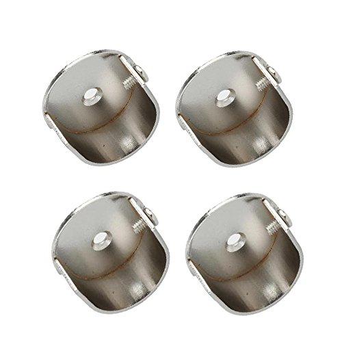 Gazechimp 4 Stücke Wandhalterung für 28mm Vorhangstangen Ersatz Zubehörteile - Silber