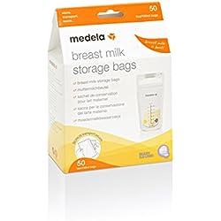 Medela 80411 - Bolsas de almacenamiento para conservar y congelar leche materna Medela, 50 unidades