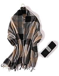 AFBLR Col écharpe châle Foulard imitation cachemire classique Angleterre  plaid chaud gros châle hommes et femmes écharpe d automne… 308d4df07ba