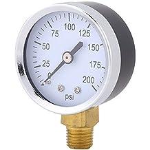 Medidor de agua líquida de aceite de aire de combustible de calibre de presión mini preciso
