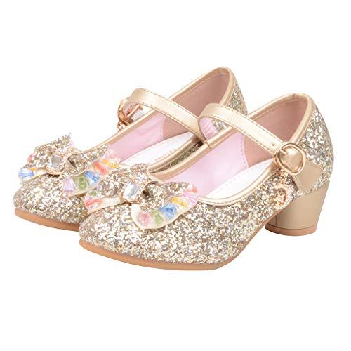 Prinzessin Schuhe MäDchen, Baby Mädchen Perlen Kristall Bling Bowknot einzelne Sandalen, Kinder Party Casual Schuhe (Glas-hausschuhe Für Kinder)