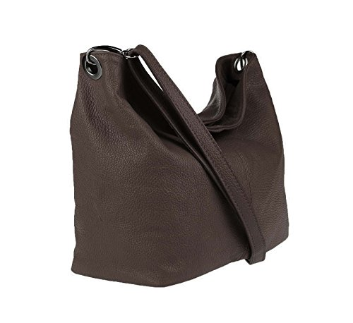 OBC Only-Beautiful-Couture, Borsa a spalla donna Turchese turchese 36x24x14 cm (BxHxT) dunkelbraun-morro