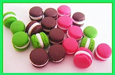 20 macarons miniatures en fimo pâte polymère pour fiole
