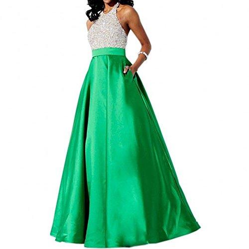 Bridal_Mall - Robe de mariage - Trapèze - Sans Manche - Femme Vert