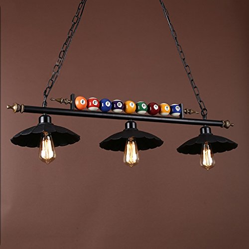 Meters Post moderne minimaliste billard lustre en fer forgé café chambre restaurant éclairage