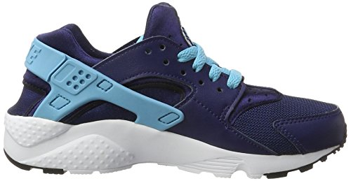 Nike Kinder und Jugendliche Huarache Run Gs Sneakers Mehrfarbig (Binary Blue/vivid Sky-white-black)