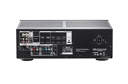 Denon AVRX520BTBKE2 AV-Receiver (5x HDMI, 3D-4K-HD Master, 5x 140 Watt, Bluetooth, Surround 5.1) schwarz