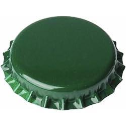 Chapas de 26mm para botellas normales, Verdes - 100 unid